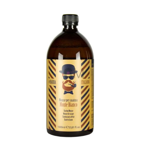 BARBA ITALIANA - Monte Bianco Recharge 1000 ml Mousse de rasage